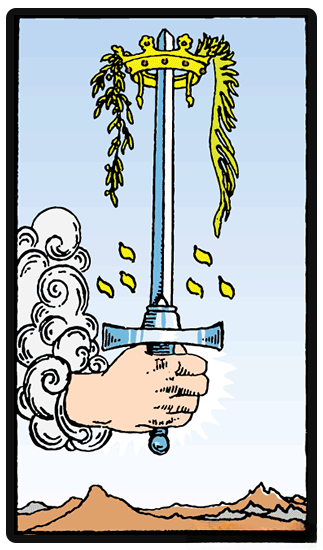 As of Swords tarot card