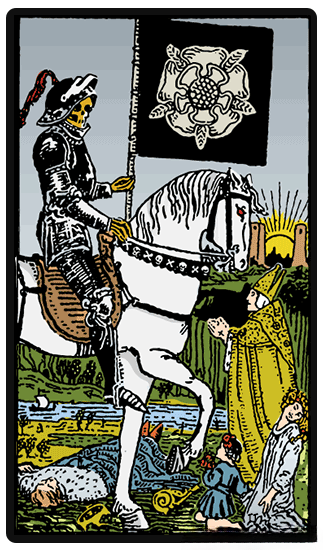 Death and Wheel of Fortune and Fool tarot card combinations