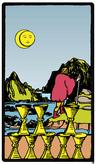 taro card Eight of Cups