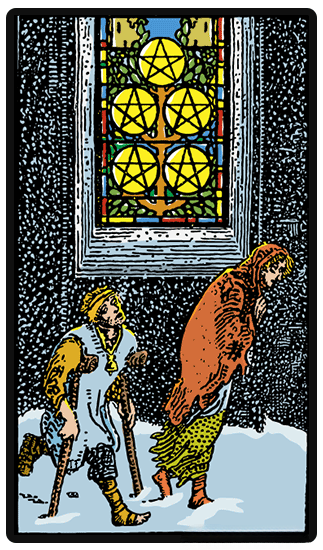 taro korta Five of Pentacles