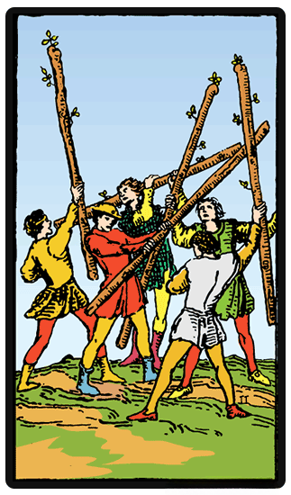 Five of Wands tarot card
