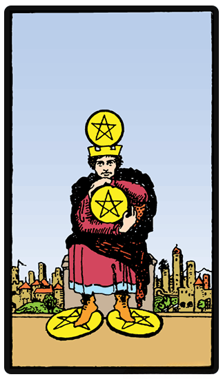 Four of Pentacles tarot card