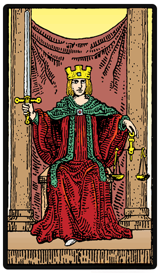 Ten of Pentacles and Justice tarot card combinations