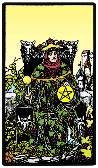 taro card King of Pentacles