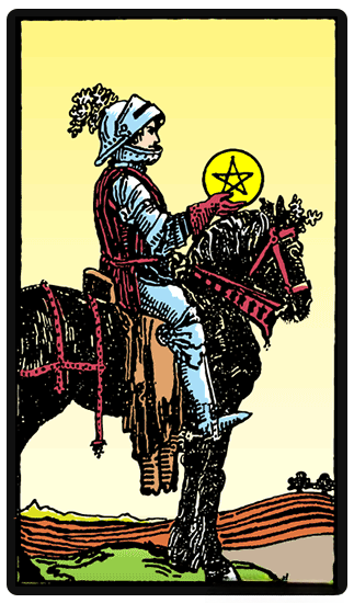 taro card Knight of Pentacles