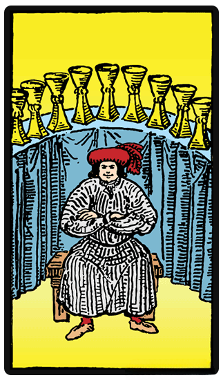 taro card Nine of Cups