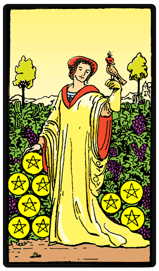 taro card Nine of Pentacles