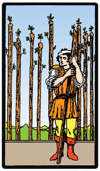 taro card Nine of Wands