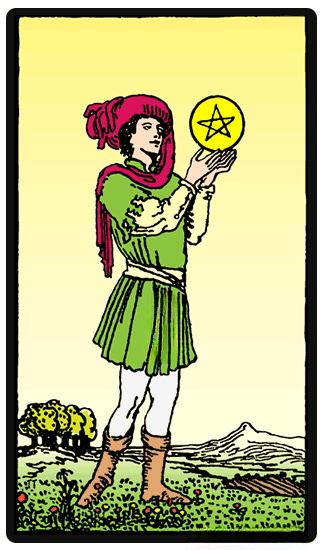 taro card Page of Pentacles