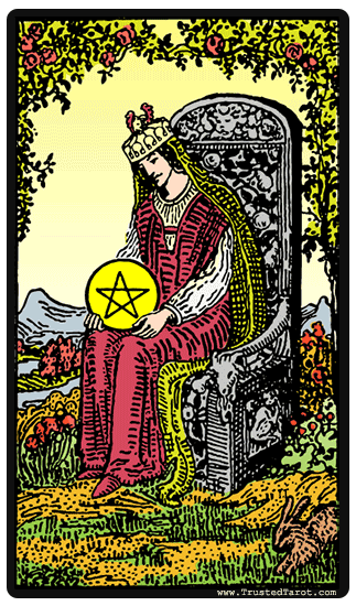taro card Queen of Pentacles