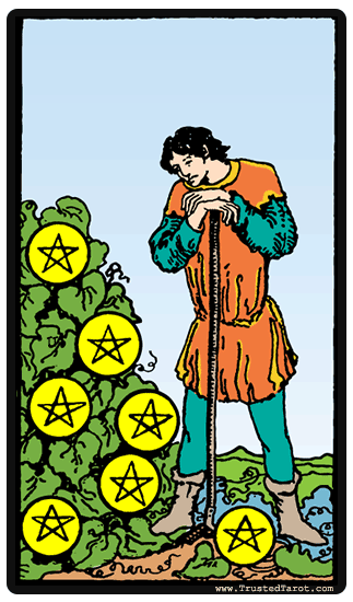taro korta Seven of Pentacles