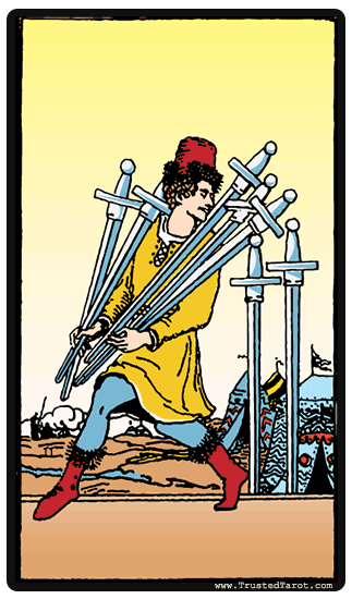 taro korta Seven of Swords