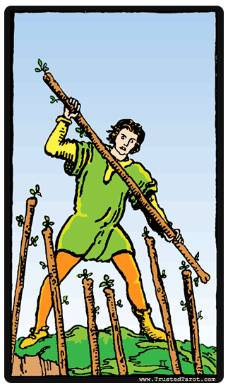 taro card Seven of Wands
