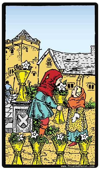 taro card Six of Cups