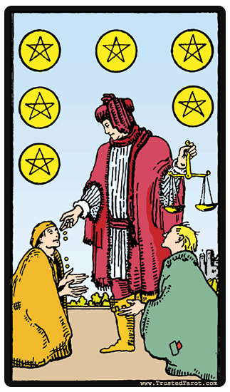 taro korta Six of Pentacles
