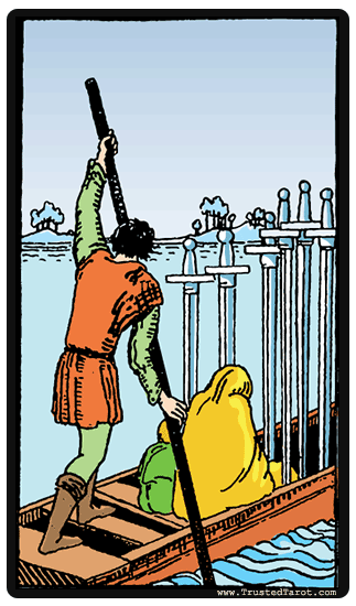 taro korta Six of Swords