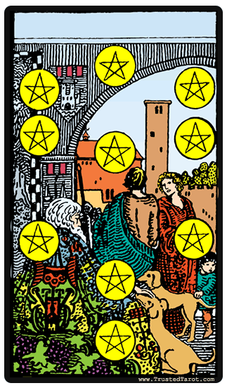 taro card Ten of Pentacles