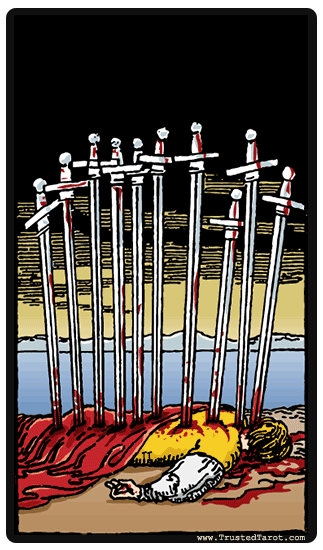 taro korta Ten of Swords