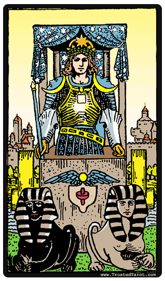 Strength and Chariot and Ace of Swords tarot card combinations