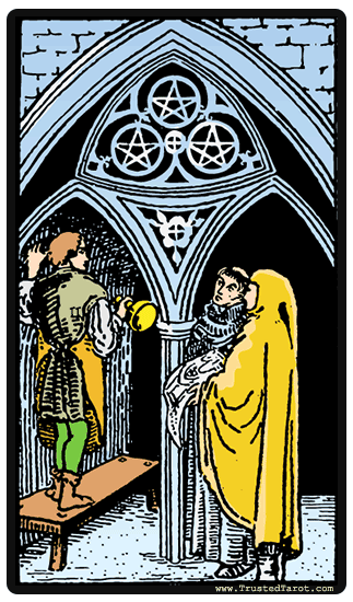 taro korta Three of Pentacles