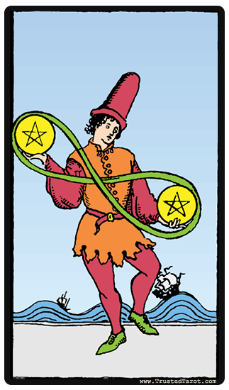 taro korta Two of Pentacles