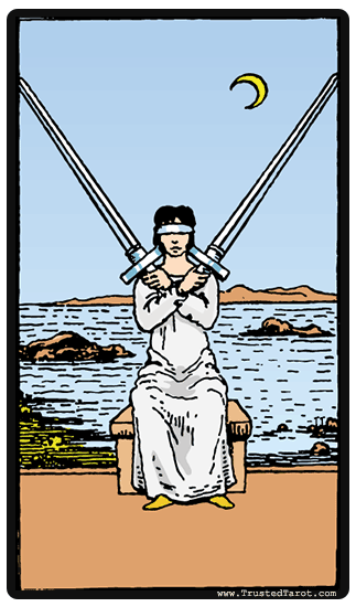 Two of Swords tarot card