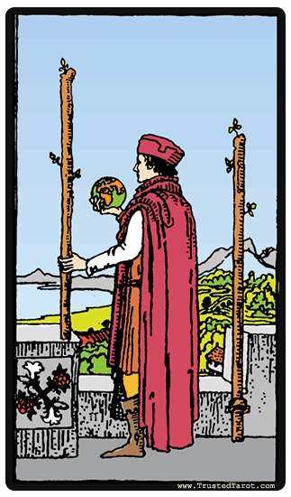 taro card Two of Wands